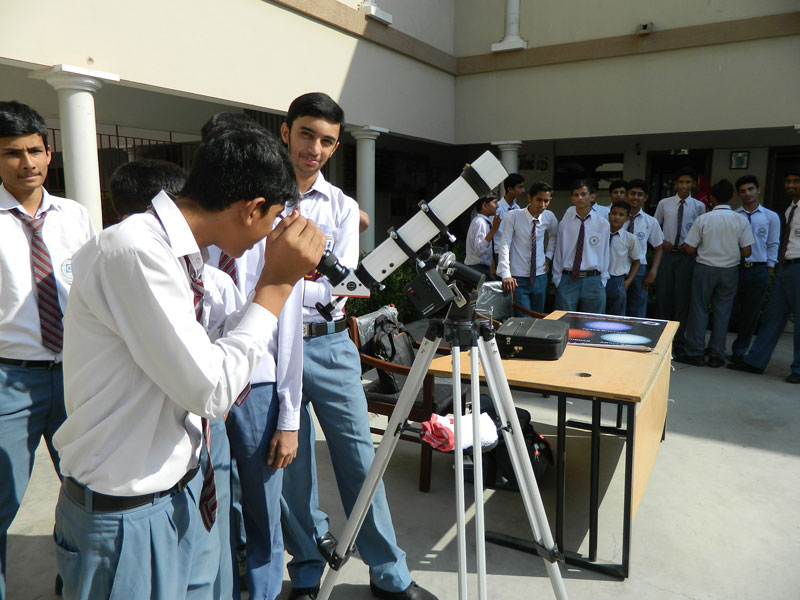 Solar Observation at Hermann Gmeiner School of SOS Village - 22 Nov
